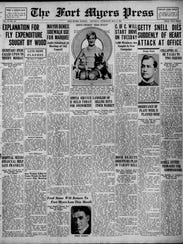 The Fort Myers Press announcing the death of Getty