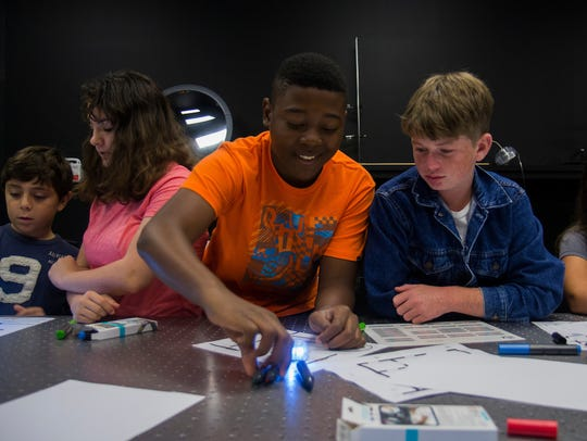 Students participate in last year's photonics camp