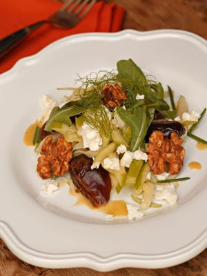 Fennel and apple Salad with Feta, Dates and Toasted Walnuts, from Charles Wiley of Hotel Valley Ho.
