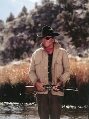 "John Wayne plays Rooster Cogburn in the 1970 Oscar-winning ""True Grit."""