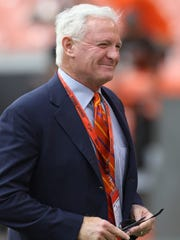 An Alabama judge on Friday denied a request for Pilot Flying J CEO and Cleveland Browns owner Jimmy Haslam to stop a deposition related to the Haslam family's truck stop chain and its rebate fraud scheme.