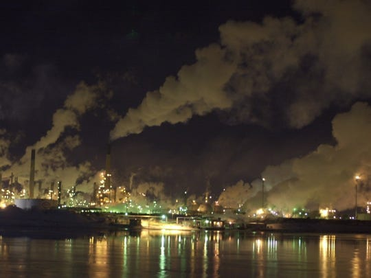 A file photo shows companies in Sarnia's Chemical Valley