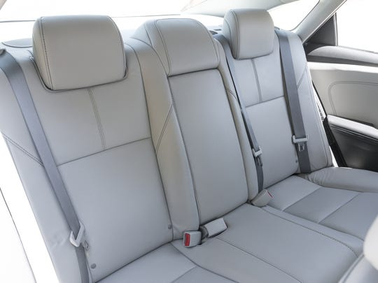 Toyota Avalon Hybrid backseat.