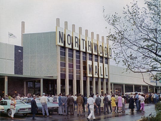 More than 100 people gathered on a drizzly Sept. 30, 1969 to celebrate the grand opening of the Northwood Mall, which is now the Northwood Centre.