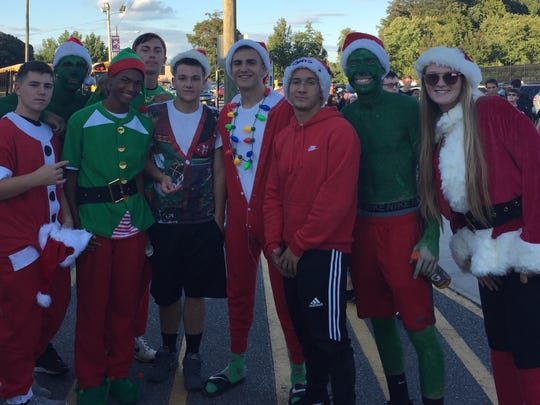 Students got into the spirit of the season during Old