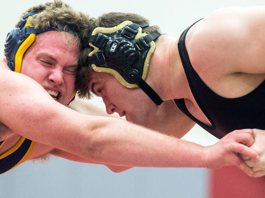 Biglerville's Brent Hayes, right, wrestles Eastern