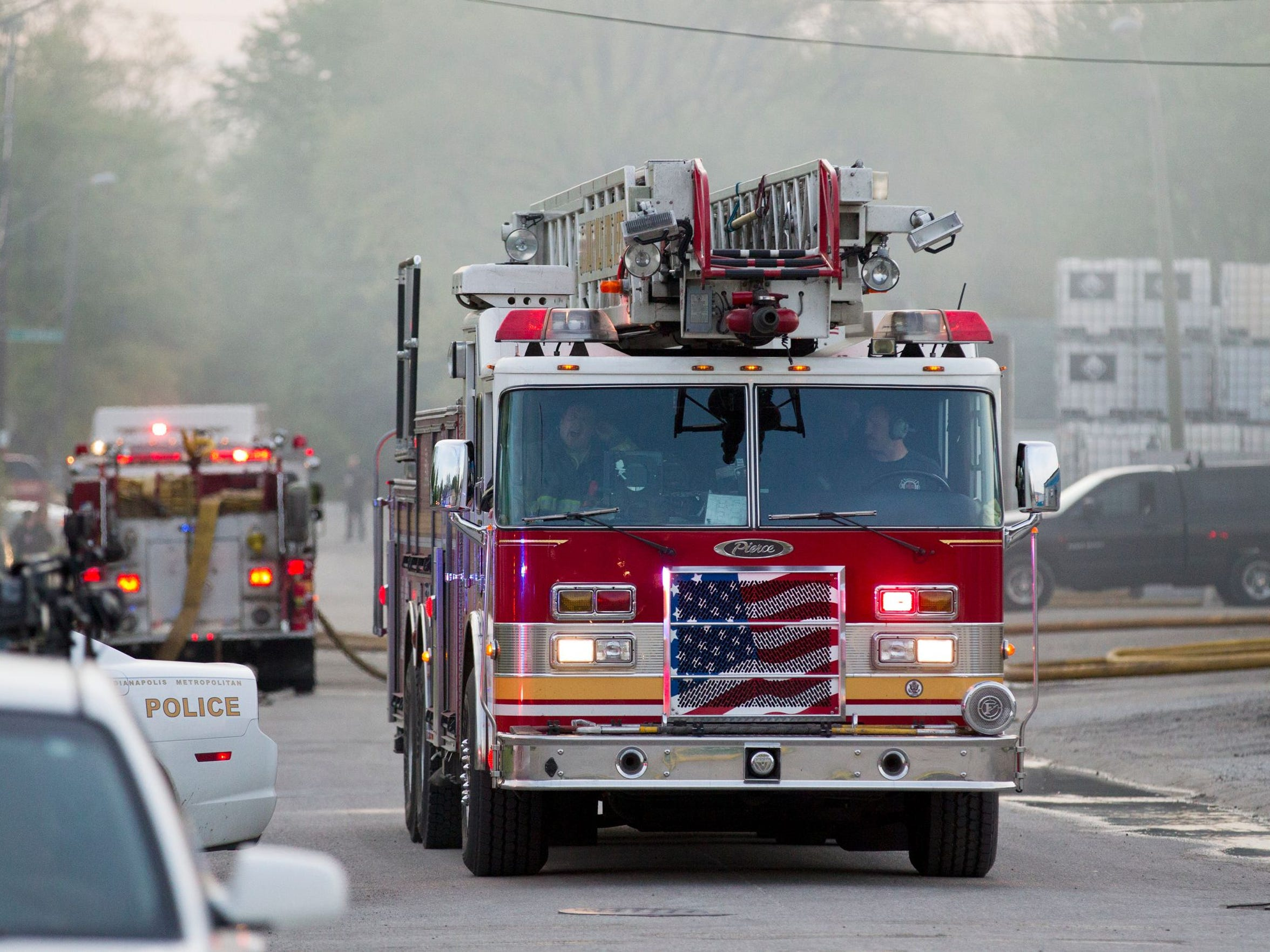 Fire erupted at Indy Drum, Empty Container Management Services, 3619 E. Terrace Ave, Indianapolis, on May 7, 2014. The plant was closed last week, a company official said Tuesday.