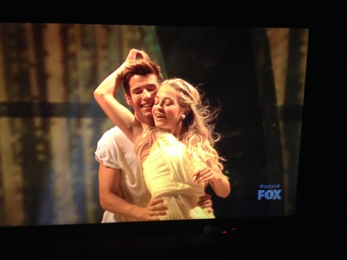 Casey and Jessica made the Top 10 with this routine by Travis Wall. (Photo: Fox)
