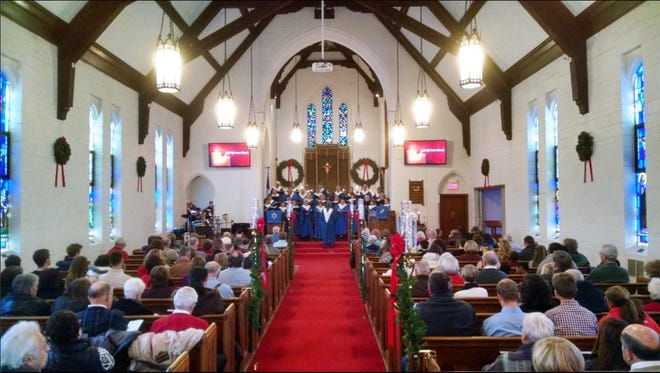 """Members of the St. Luke/Christ Lutheran congregation gathered recently for a pre-Christmas """"Lessons and Carols"""" choir concert."""