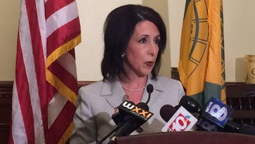 County Executive Cheryl Dinolfo apologized to the county voters, members of the media and the business owners caught in the middle of a political attack, during a news conference Tuesday morning. (May 24, 2016)
