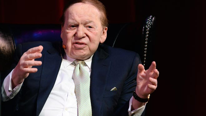 Las Vegas Sands Chairman and CEO Sheldon Adelsonis shown in May 5, 2014 in Las Vegas.
