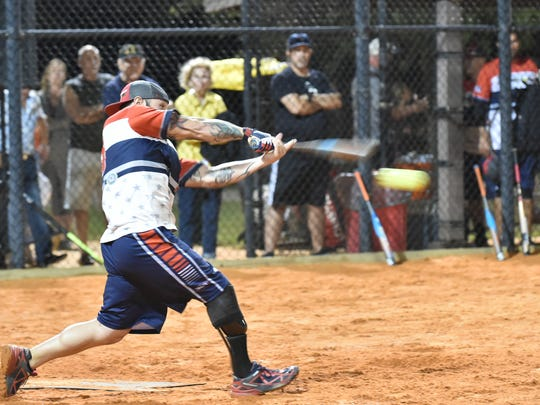 Lonnie Gaudet couldn't be stopped all evening during the battle between The Louisville Slugger Warriors and Team Florida.
