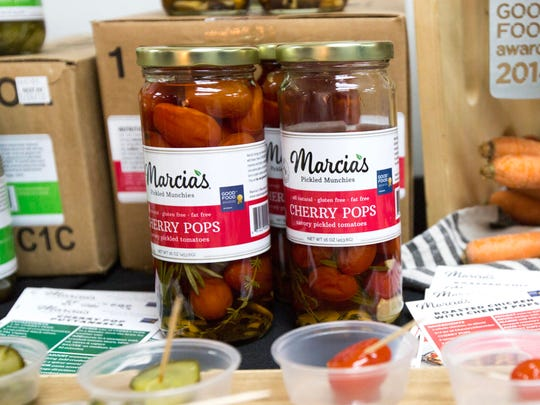 Marcia's Munchies Cherry Pops are on display at the new food incubator called FEAST Detroit in Inkster on Thursday, October 18, 2017.