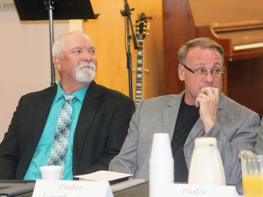 Pastor Ronny Rardin of Saving Grace and Pastor Timothy Green of Cottonwood Christian Fellowship Church were both guest speakers at the 39th annual Legislative Prayer Breakfast Friday.