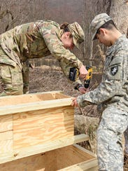 Civil engineering cadets from the U.S. Military Academy