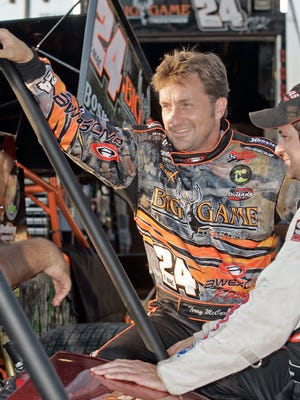 Terry McCarl, seen here in 2007, was involved in dangerous wreck Saturday night at Knoxville Raceway.