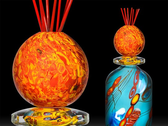 Glass art from Steve Palmer, one of the many artists