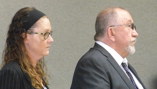 Jenna Jo Barry-Highfield, shown with defense attorney David Wilson, pleaded guilty Monday to having sex with a minor.
