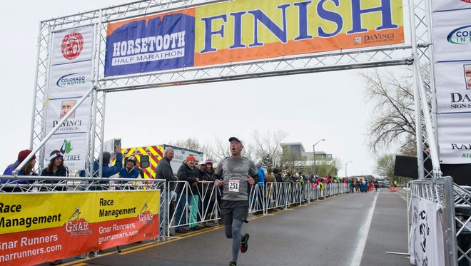 Runners compete in the Horsetooth Half Marathon Sunday, April 17, 2016.