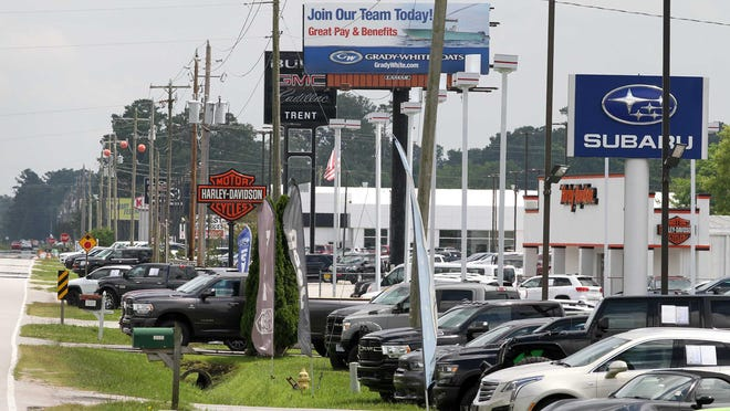 Established businesses are open along the 1600-block of US 70 near James City, NC. NCDOT plans to widen US 70 with several locations being affected by the project.