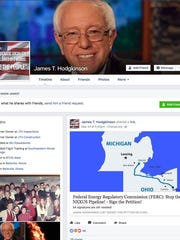 Screen grabs from the Facebook page of James T. Hodgkinson.