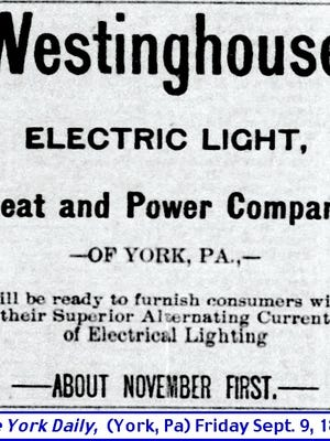 Notice in The York Daily (York, PA) issue of September 9, 1892