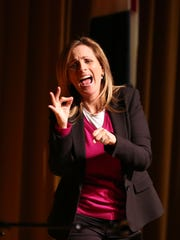 Academy Award winning actress and activist Marlee Matlin kicked off the Rancho Mirage Speaker Series at the Annenberg Theater for Health Sciences at Eisenhower in Rancho Mirage on Tuesday, January 17, 2017.