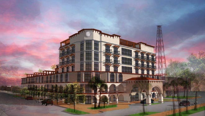 """An Ohio developer is interested in building a 100-room hotel, with a """"sky bar"""" in the heart of Cocoa Village"""