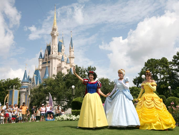 Snow White, Cinderella, Belle and the other Disney princesses make appearances every day to meet guests.