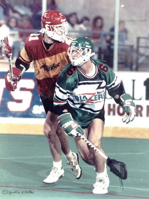"""Dan Britton, former professional lacrosse player for the Baltimore Thunder, will be the guest speaker at Monday night's second annual """"Champions of the Crosse"""" dinner event for area prep lacrosse players."""