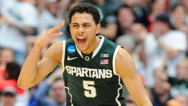 Guard Bryn Forbes (5) and the rest of the Michigan State basketball team enters a tough Final Four field with confidence.