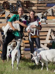 Sarah Williams and April Gould run goat yoga classes