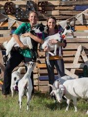 Sarah Williams and April Gould run goat yoga classes in Gilbert.