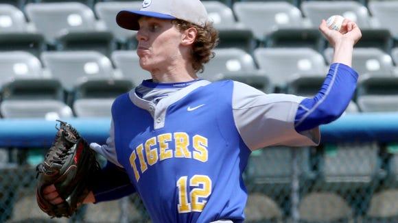 North Salem's Connor Mahoney pitches against Tuckahoe