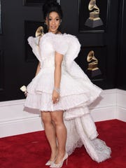 Cardi B arrives at the 60th annual Grammy Awards at