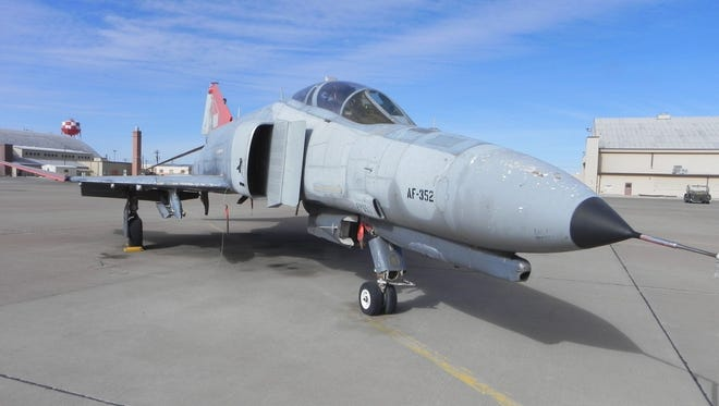 An F-4 sits on Holloman Air Force Base, waiting for a decision from the General Services Administration. The City of Alamogordo has requested the aircraft to be part of a static display in the Alamogordo Airborne Monument, honoring the 55 years the F-4 flew over the community.