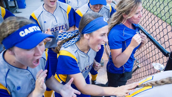 The Castle Knights advanced to the semistate after defeating Bedford North Lawrence, 6-5. Castle scored four runs in the sixth to complete the comeback.