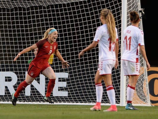 Soccer: International Friendly Women's Soccer-Denmark at U.S.A.
