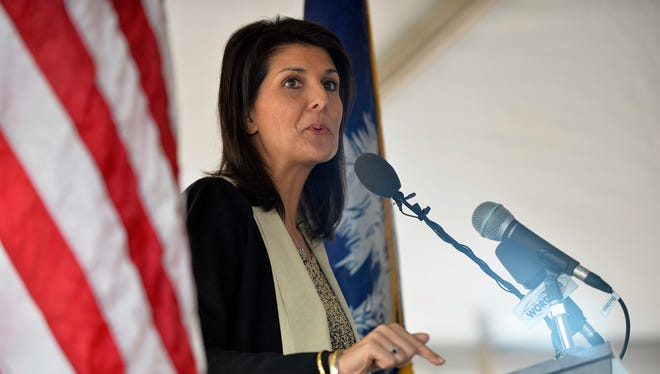 Gov. Nikki Haley is signaling that she may veto a House roads package that could include a much smaller tax cut than her own plan proposes.