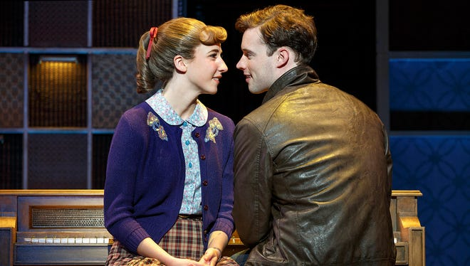 """The national tour of """"Beautiful - The Carole King Musical"""" stars Julia Knitel as Carole King and Liam Tobin as Gerry Goffin."""