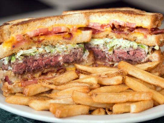 The Vortex Burger at Metro Diner features a half-pound