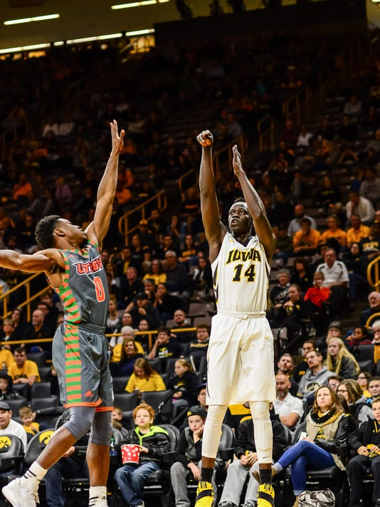 NCAA Basketball: Texas-Pan American at Iowa