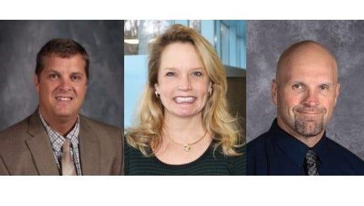 Brad Kelvington, Julie Beddow-Schubert and James Wagner, from left, were finalists for Rocori superintendent.