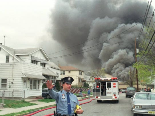 The Napp Technologies general alarm fire, April 21,