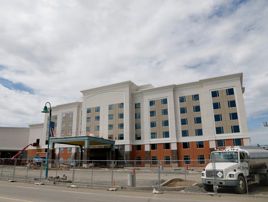 The Tioga Downs hotel is on track to open in November.