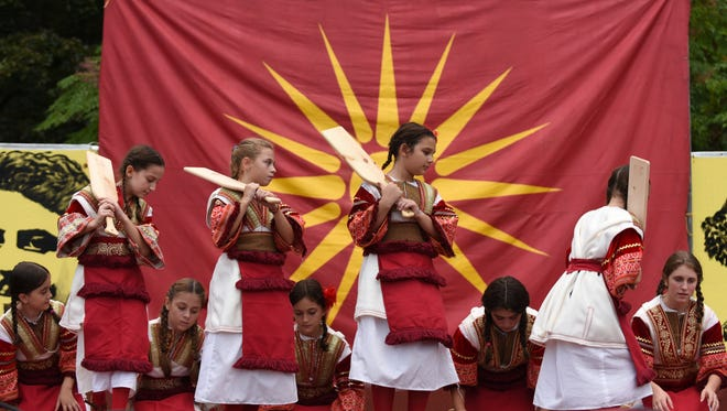 Children perform at the Fifth Annual Macedonian Picnic at Saints Kiril and Metodij Macedonian Orthodox Church in Cedar Grove on Saturday Sept. 16, 2017.