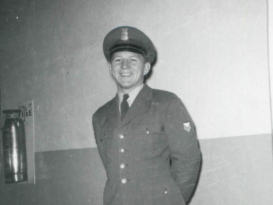 In this undated photo, Lyman Smith wears his uniform