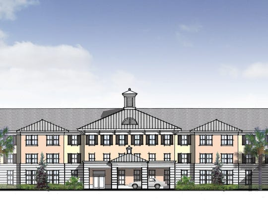 An architect's rendering of the $14 million 100-unit assisted living facility for poor seniors planned for Renaissance Preserve in Fort Myers.