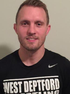 West Deptford wrestling coach Christian Scannell.