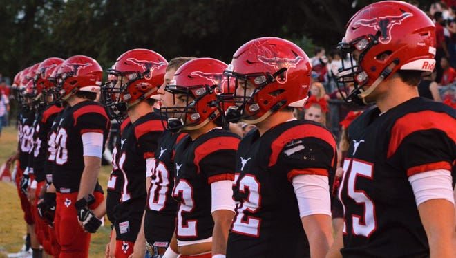 Eastland awaits the coin toss prior to Friday's Big Country Game of the Week with Wall..